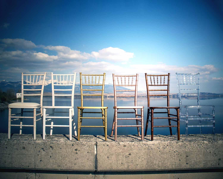 Daj swojemu wydarzeniu odrobinę elegancji dzięki naszym krzesłom Chiavari